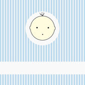 Boy shower card — Stock Vector
