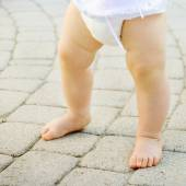 Close up of cute baby feet  — Stock Photo