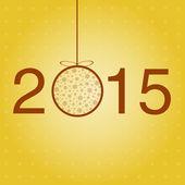 Modelo de saudação de ano novo. Vector. — Vetor de Stock
