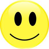 Gul smiley ansikte med en positiv känsla. — Stockvektor