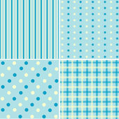 Set of 4  background patterns blue tones. — Stock Vector