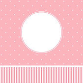Pink greeting card design. — Stock Vector