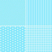 Set of four cute retro patterns — Stock Vector