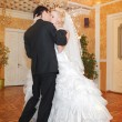 Dance young bride and groom — Stock Photo #61964247