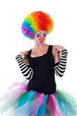 Legrační klaun — Stock fotografie