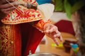 Bir tören sırasında rahip — Stok fotoğraf