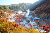 Noboribetsu, Hokkaido, Japan at Jigokudani Hell Valley — Stock Photo
