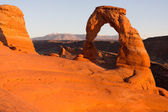 Delicate Arch in the evening light — Стоковое фото