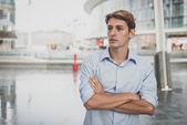 Hombre rubio joven modelo hansome — Foto de Stock