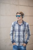 Young model hansome blonde man — Stock Photo