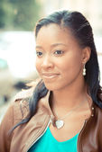 Beautiful african young woman — Stock Photo