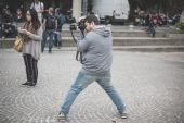 Professional photographers during Milan fashion week 2014 — Stockfoto