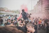 Students manifestation held in Milan on October, 10 2014 — Foto de Stock