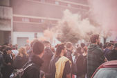 No expo demonstration held in Milan october 11, 2014 — Stok fotoğraf
