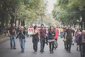 Ninguna manifestación de la expo celebrada en Milán el 11 de octubre de 2014 — Foto de Stock
