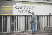 No expo demonstration held in Milan october 11, 2014 — ストック写真