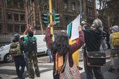 Exiled Thai activist Junya Lek Yimprasert in Milan on octo — Stock Photo