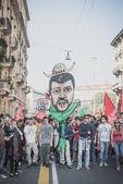 Manifestation held in Milan october 18, 2014 — Stock Photo