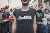Manifestation held in Milan october 18, 2014 — Stock Photo