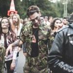 Zombies parade held in Milan october 25, 2014 — Stock Photo #56468033