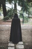 Vampire woman with mantle and hood — Stock Photo