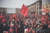 Student demonstration held in Milan — Stock Photo