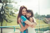 Young women sisters friends — Foto de Stock