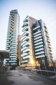Blurred urban milan landscape  — Stock Photo