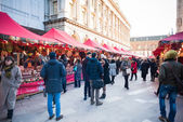 Christmas stands in Milan — Stockfoto