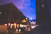 Blurred bokeh milan city — Stock Photo