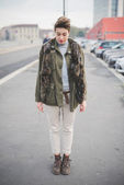 Beautiful hipster woman with  short hair — ストック写真