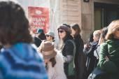Milan Fashion week, Włochy — Zdjęcie stockowe