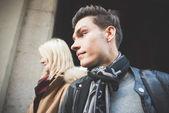 Ludzie podczas Milan Fashion week — Zdjęcie stockowe