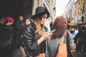 People during Milan Fashion week — Stock Photo