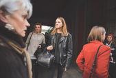 People during Milan Fashion week — Stock Photo