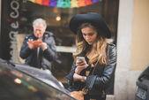People during Milan Fashion week — Foto de Stock