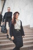 People during Milan Fashion week — 图库照片