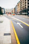 Blurred city and people urban scene — Stock Photo