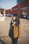 Mujer asiática hipster — Foto de Stock