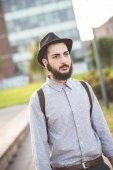Hipster gay modern man — Foto de Stock