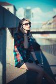 женщина молодая красивая модель — Стоковое фото