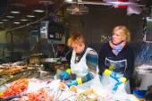 Boqueria marketplace in Barcelona — Stock Photo
