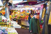 Boqueria marketplace in Barcelona — Zdjęcie stockowe