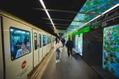 Interior of metro barcelona station — Stock Photo