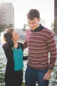Young  lovers  couple — Stock Photo