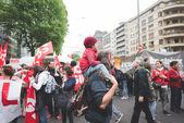 Manifestation d'étudiants à Milan — Photo