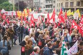 Studenter-manifestationen i Milano 2015 — Stockfoto