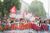 Students manifestation in Milan — Stock Photo