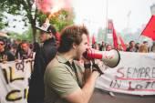 Students manifestation in Milan — Stock Photo