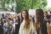 Students manifestation   Milan on May — Stock Photo